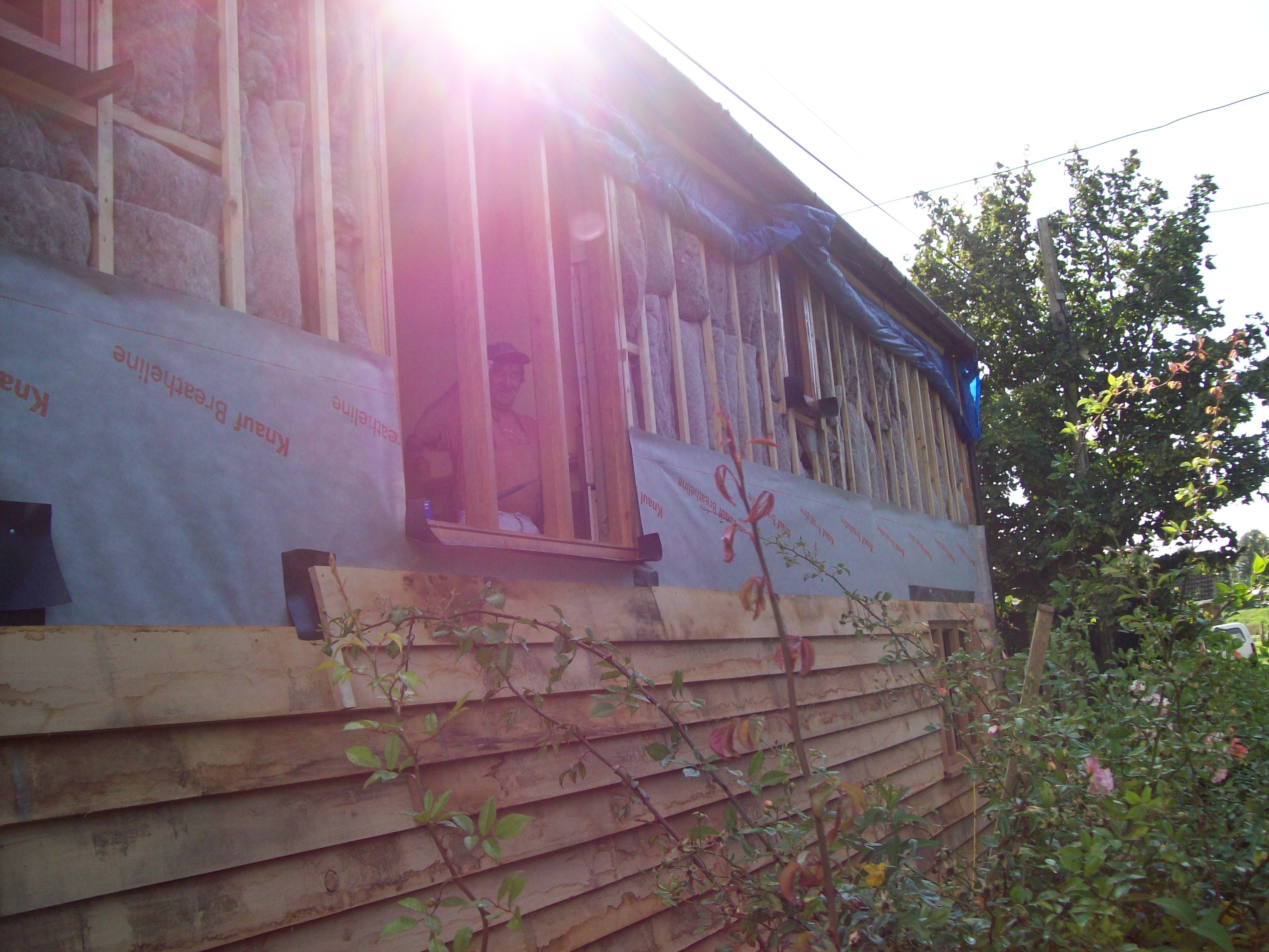 Local oak cladding to front elevation