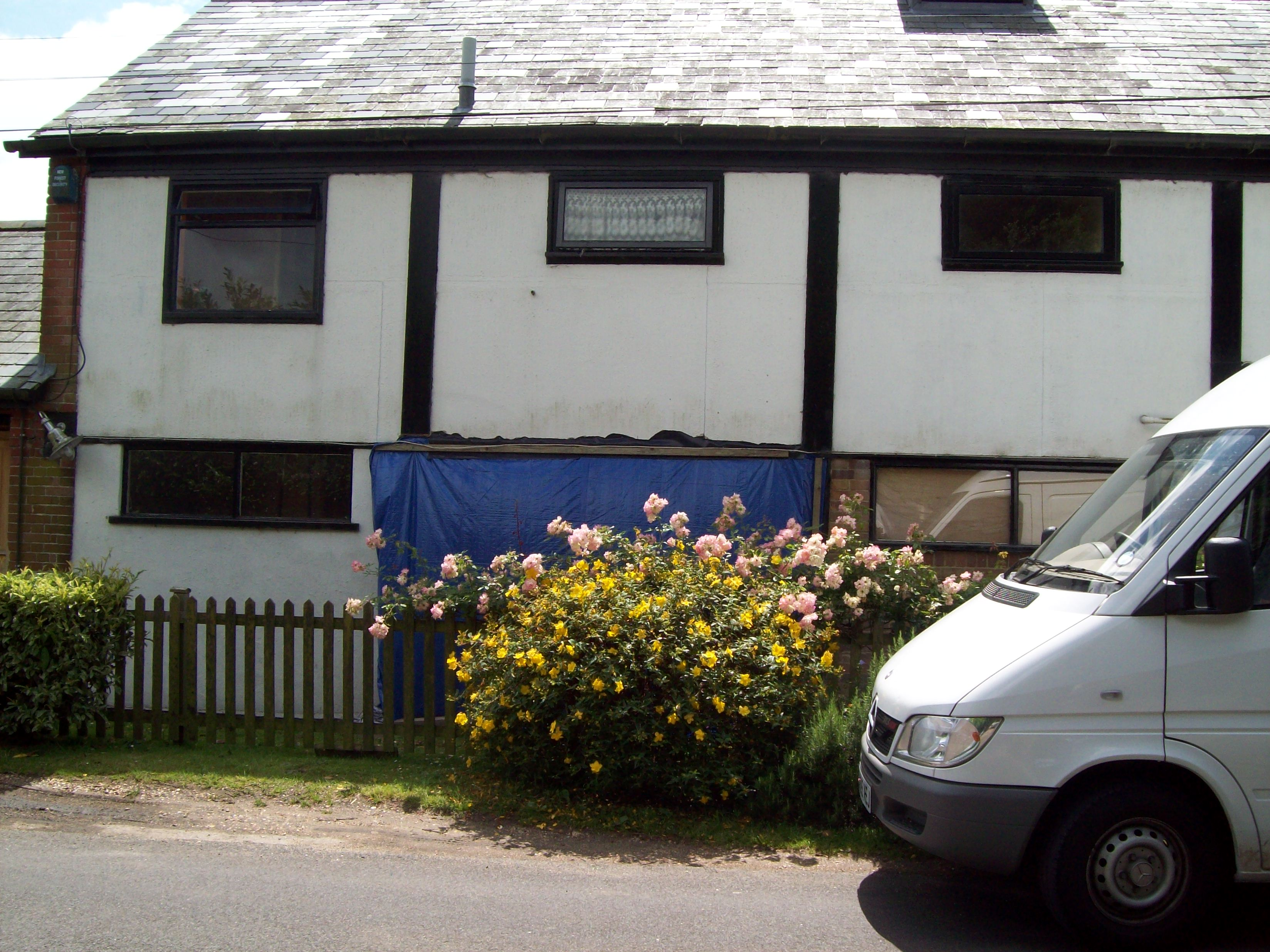 Removal of the old frontage begins