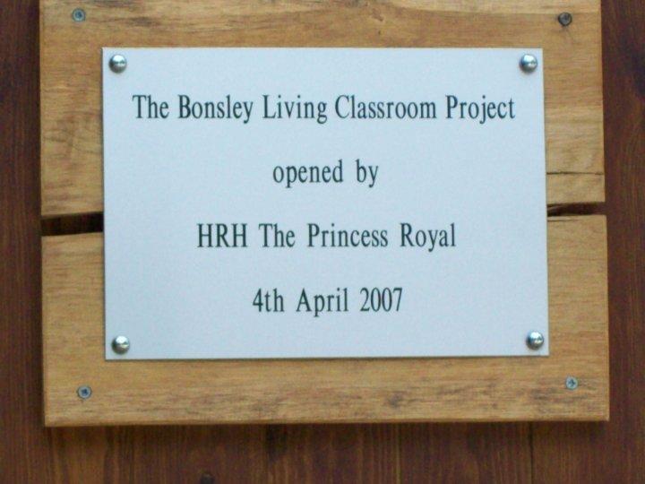 The Royal visit plaque