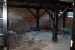 Existing concrete is excavated