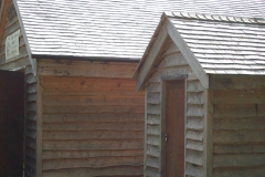 Shingle roof and larch cladding