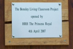 The Royal visit plaque